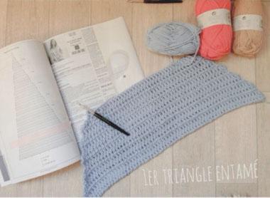 debut tapis crochet