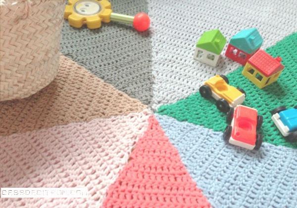 tapis arty au crochet