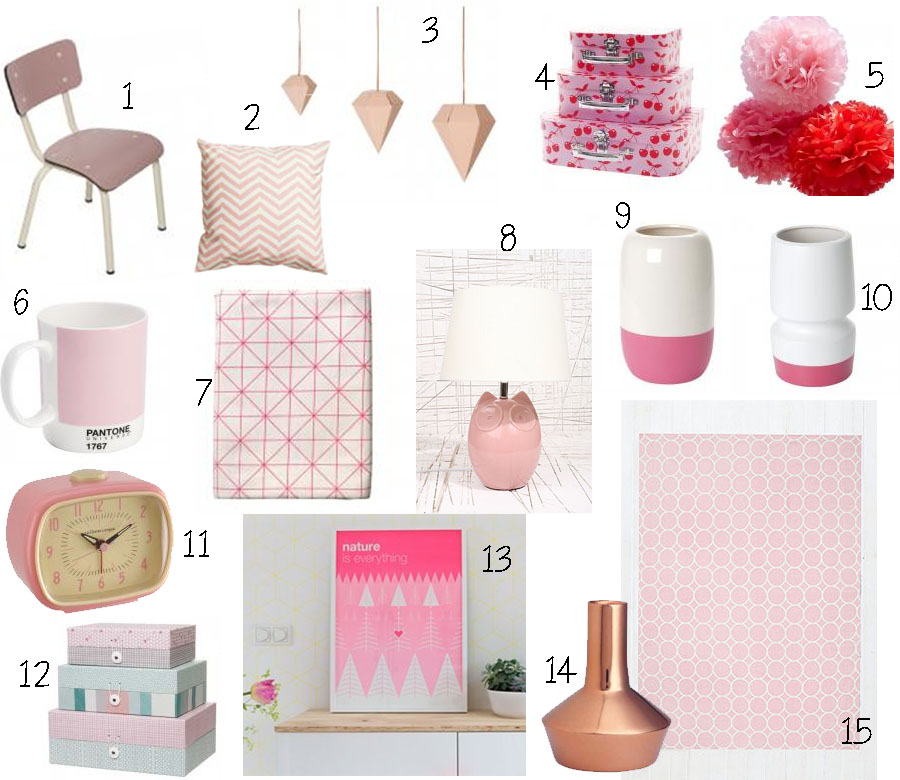 S lection d co th me 1 la vie en rose cess de citron for Article deco